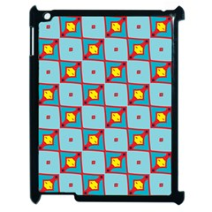 Shapes In Squares Pattern                                                                                                           			apple Ipad 2 Case (black) by LalyLauraFLM