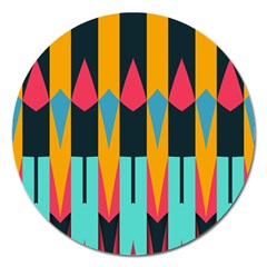 Shapes And Stripes                                                                                                             			magnet 5  (round)