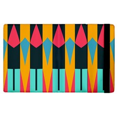 Shapes And Stripes                                                                                                            			apple Ipad 2 Flip Case by LalyLauraFLM