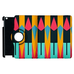 Shapes And Stripes                                                                                                            			apple Ipad 2 Flip 360 Case by LalyLauraFLM