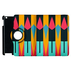 Shapes And Stripes                                                                                                            			apple Ipad 3/4 Flip 360 Case by LalyLauraFLM