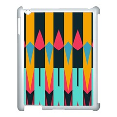 Shapes And Stripes                                                                                                            apple Ipad 3/4 Case (white) by LalyLauraFLM