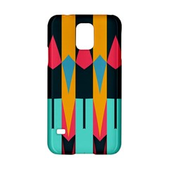 Shapes And Stripes                                                                                                            			samsung Galaxy S5 Hardshell Case by LalyLauraFLM