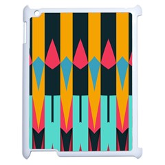 Shapes And Stripes                                                                                                            apple Ipad 2 Case (white) by LalyLauraFLM