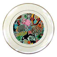 Alphabet Patterns Porcelain Plates by AnjaniArt