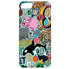 Alphabet Patterns Apple Iphone 5 Classic Hardshell Case by AnjaniArt