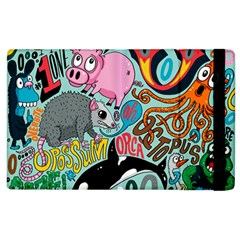Alphabet Patterns Apple Ipad 2 Flip Case by AnjaniArt