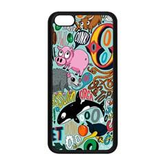 Alphabet Patterns Apple Iphone 5c Seamless Case (black) by AnjaniArt