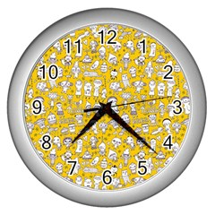 Background Para Tumblr Wall Clocks (silver)  by AnjaniArt