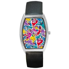 Animation Animated Cartoon Pattern Barrel Style Metal Watch by AnjaniArt