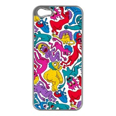 Animation Animated Cartoon Pattern Apple Iphone 5 Case (silver) by AnjaniArt