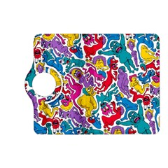 Animation Animated Cartoon Pattern Kindle Fire Hd (2013) Flip 360 Case by AnjaniArt