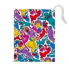 Animation Animated Cartoon Pattern Drawstring Pouches (extra Large) by AnjaniArt