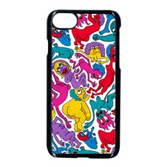 Animation Animated Cartoon Pattern Apple Iphone 7 Seamless Case (black) by AnjaniArt