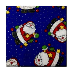 Blue Santas Clause Tile Coasters