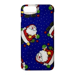Blue Santas Clause Apple iPhone 7 Plus Hardshell Case by AnjaniArt