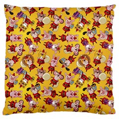 Bears Bunnies Goats Tigers Lions Pigs Gifts Texture Fun Large Flano Cushion Case (one Side) by AnjaniArt