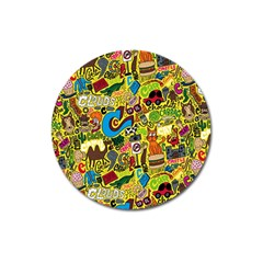 C Pattern Magnet 3  (round) by AnjaniArt