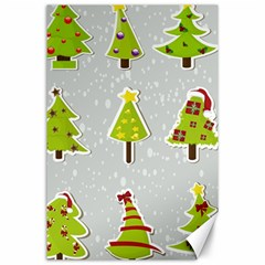 Christmas Elements Stickers Canvas 24  X 36  by AnjaniArt