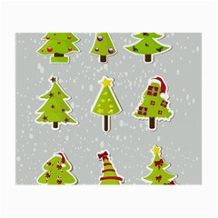 Christmas Elements Stickers Small Glasses Cloth (2 Side) by AnjaniArt