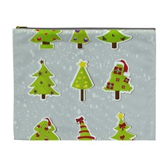 Christmas Elements Stickers Cosmetic Bag (XL) by AnjaniArt