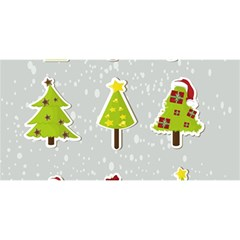 Christmas Elements Stickers You Are Invited 3d Greeting Card (8x4) by AnjaniArt