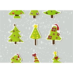 Christmas Elements Stickers Birthday Cake 3d Greeting Card (7x5) by AnjaniArt