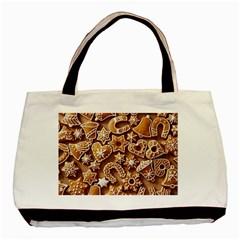 Christmas Cookies Bread Basic Tote Bag by AnjaniArt