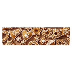 Christmas Cookies Bread Satin Scarf (oblong) by AnjaniArt