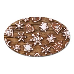 Christmas Cookies Oval Magnet by AnjaniArt