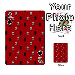 Cute Zombie Pattern Playing Cards 54 Designs  by AnjaniArt