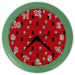 Cute Zombie Pattern Color Wall Clocks by AnjaniArt