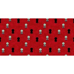 Cute Zombie Pattern You Are Invited 3d Greeting Card (8x4)