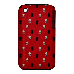 Cute Zombie Pattern Apple Iphone 3g/3gs Hardshell Case (pc+silicone) by AnjaniArt