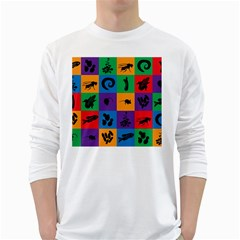 Elife White Long Sleeve T Shirts by AnjaniArt