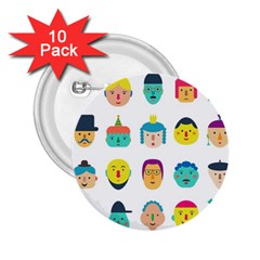 Face People Man Girl Male Female Young Old Kit 2 25  Buttons (10 Pack)  by AnjaniArt