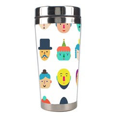 Face People Man Girl Male Female Young Old Kit Stainless Steel Travel Tumblers by AnjaniArt