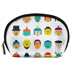 Face People Man Girl Male Female Young Old Kit Accessory Pouches (large)  by AnjaniArt