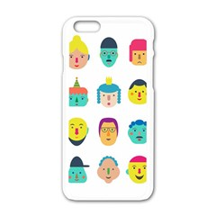 Face People Man Girl Male Female Young Old Kit Apple Iphone 6/6s White Enamel Case by AnjaniArt