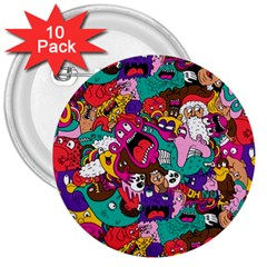 Face 3  Buttons (10 Pack)