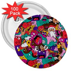 Face 3  Buttons (100 Pack)