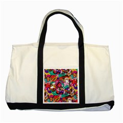 Face Two Tone Tote Bag