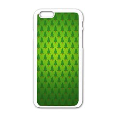 Fire Kindle Wallpaper Christmas Trees Apple Iphone 6/6s White Enamel Case by AnjaniArt