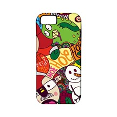 Face Mask Cartoons Stash Holiday Apple Iphone 5 Classic Hardshell Case (pc+silicone) by AnjaniArt