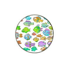 Fishes Col Fishing Fish Hat Clip Ball Marker by AnjaniArt