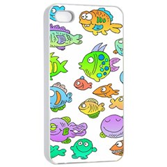 Fishes Col Fishing Fish Apple Iphone 4/4s Seamless Case (white) by AnjaniArt