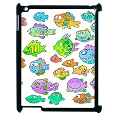 Fishes Col Fishing Fish Apple Ipad 2 Case (black) by AnjaniArt