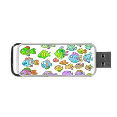Fishes Col Fishing Fish Portable Usb Flash (one Side) by AnjaniArt