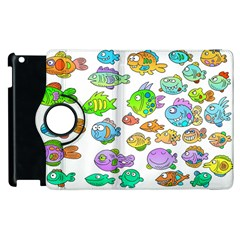 Fishes Col Fishing Fish Apple Ipad 2 Flip 360 Case by AnjaniArt