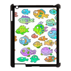 Fishes Col Fishing Fish Apple Ipad 3/4 Case (black) by AnjaniArt